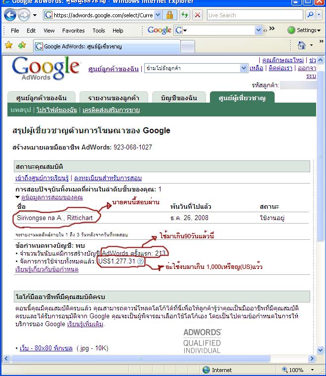Google Adwords Professional