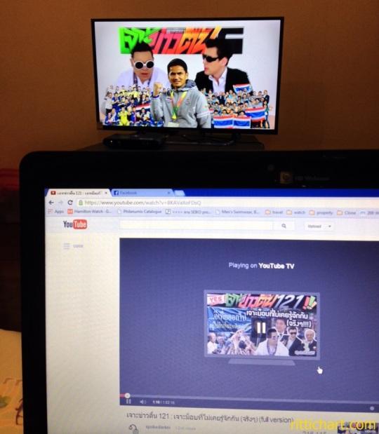 จากรูปประกอบ ผมลองสั่งให้เล่นรายการเจาะข่าวตื้นบนTVโดยสั่งผ่านLaptop เจ๋งเนอะ อิอิ