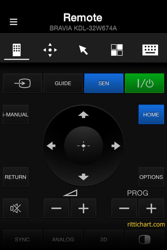 หน้าตารีโมทบน App TV SideView ใช้ง่ายครับ เวิร์กสุดๆ